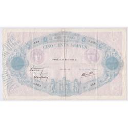 Bleu & Rose - 500 Francs 30 mars 1939 F.31-29 TB, lartdesgents.fr