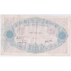 Bleu & Rose - 500 Francs 30 mars 1939 F.31-29 TB (2), lartdesgents.fr