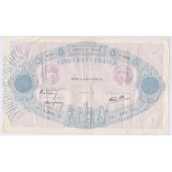 Bleu & Rose - 500 Francs 6 Avril 1939 F.31-30 TB, lartdesgents.fr
