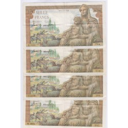 DEESSSE DEMETER - 1000 Francs 4 Billets en TTB, lartdesgents.fr