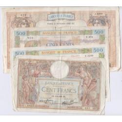LA PAIX, LOM, CERES & MERCURE- lot de 7 Billets , lartdesgents.fr