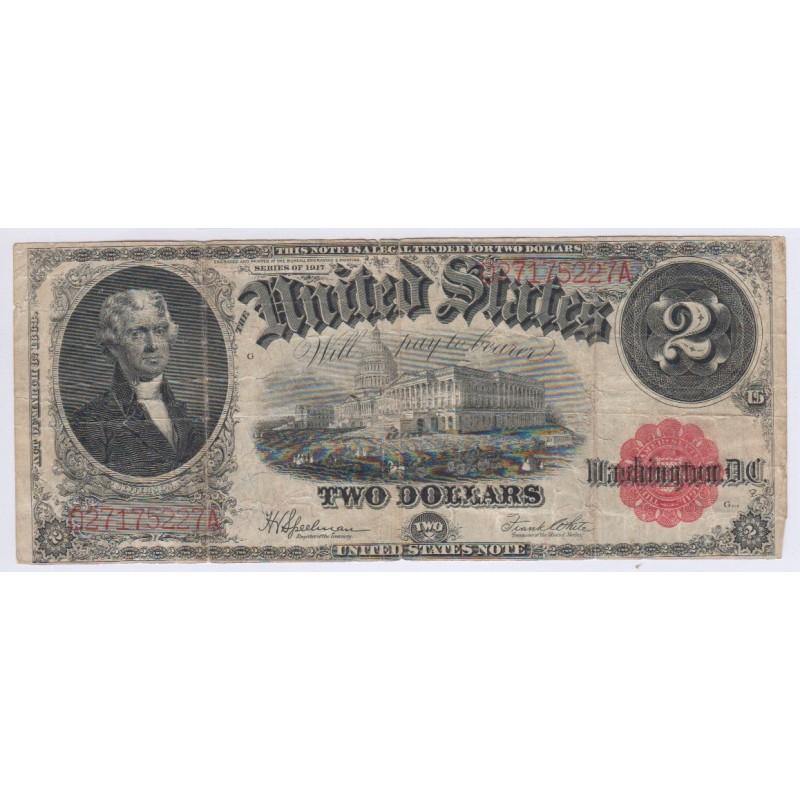 USA TWO DOLLARS 2$ série 1917 P.188a4, lartdesgents.fr