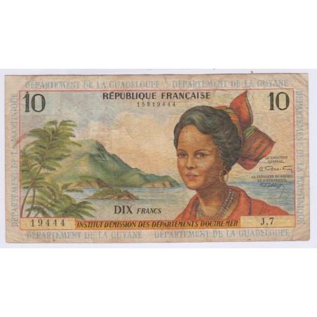 ANTILLES FRANÇAISE 10 Francs 1964, lartdesgents.fr