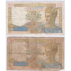 CÉRÈS 50 Francs - lot de 5 Billets , lartdesgents.fr
