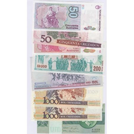3 billets d'URUGUAY+ 7 billets du BRESIL + 6 billets d'ARGENTINE , lartdesgents.fr