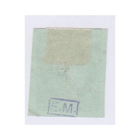 N°42B , 5c. vert-jaune report 2, déc 1870 Oblitéré charnière cote 220 Euros lartdesgents.fr