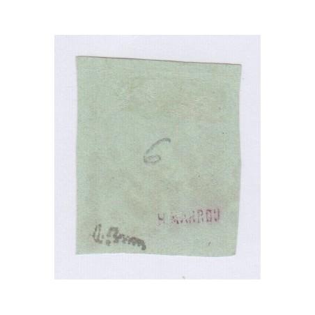N°42B , 5c. vert-jaune report 2, déc 1870 Oblitération 4545 GC signé cote 220 Euros lartdesgents.fr
