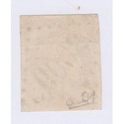 N°43A , 10c. bistre report 1, nov 1870 Oblitéré signé cote 90 Euros lartdesgents.fr