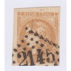 N°43A , 10c. bistre report 1, nov 1870, cote 90 Euros  lartdesgents.fr