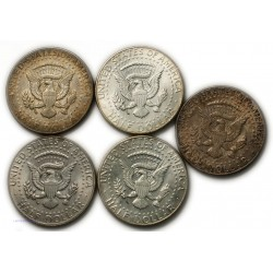 USA - half Dollar Kenedy 1964, 1966, 1967 lartdesgents.fr