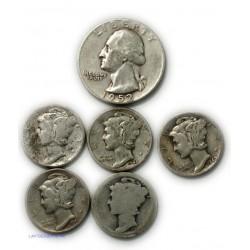USA - halfs Dollar + dimes, voir photos lartdesgents.fr