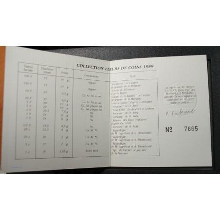 Fleur De Coins FDC, 1989 14 pièces dont la Montessquieu, lartdesgents.fr