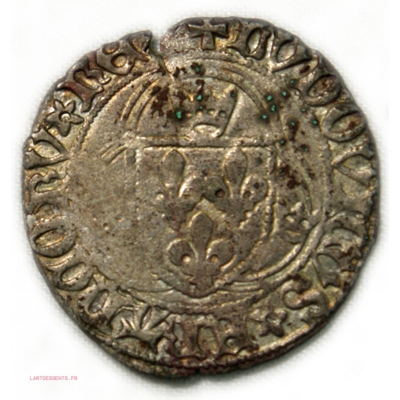 Louis XII, grand blanc à la couronne,TB TROYES ,25-04-1498 lartdesgents.fr