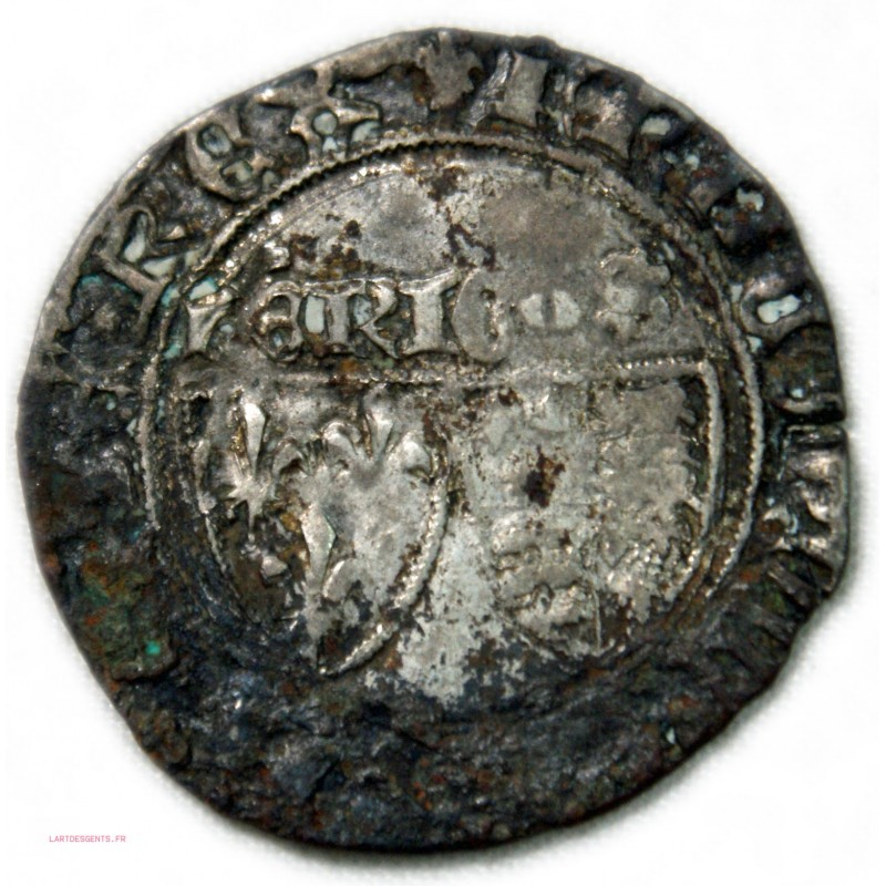 Blanc aux écus d'Henri VI de Lancastre ST LO,1422 TB lartdesgents.fr