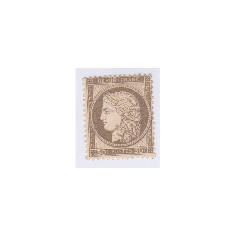 N°56, 30 c. brun, 1872, neuf sans gomme charnière cote 250 Euros  lartdesgents.fr