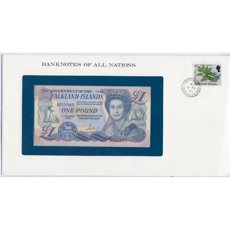 Islande - 1 Pound 1 Octobre 1984 - dans env 1er jour,  lartdesgents.fr