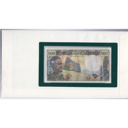 Papeete - 500 Francs - 1979 - P25b2 - dans enveloppe 1er jour,  lartdesgents.fr