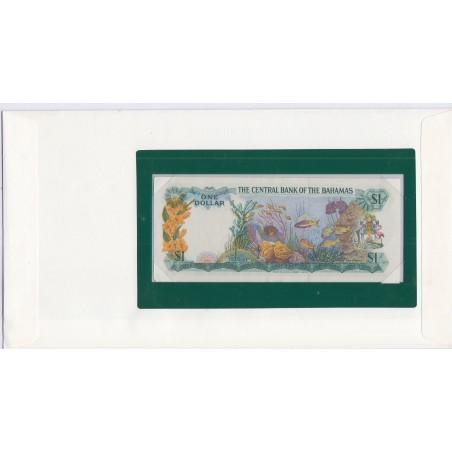 Bahamas - 1 Dollar - 1974 - P35a2 - dans enveloppe 1er jour,  lartdesgents.fr