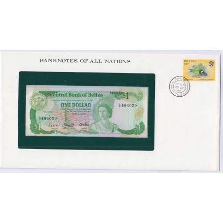 Bélize - 1 Dollar - 1 juillet 1983 - P43 - dans enveloppe 1er jour,  lartdesgents.fr