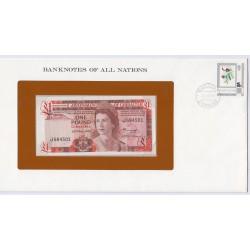 Gibraltar - 1 Pound - 20 Nov 1975 - P20a - dans enveloppe 1er jour,  lartdesgents.fr