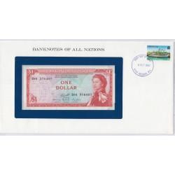 Caraïbe - 1 Dollar - P13 - dans enveloppe 1er jour,  lartdesgents.fr