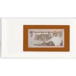 Malte - 1 Pound - 1967 - dans enveloppe 1er jour,  lartdesgents.fr