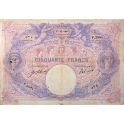 50 Francs Bleu et Rose 27/12/10 (50F003)