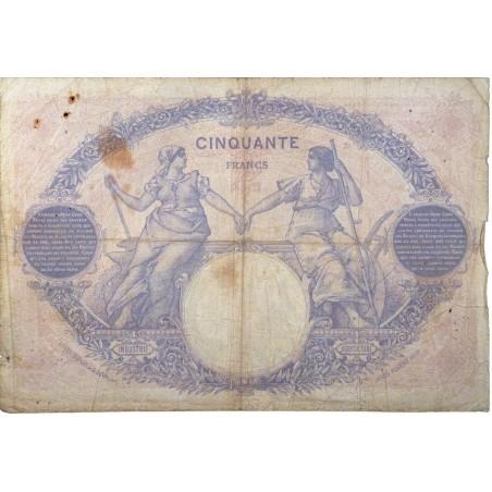 50 Francs Bleu et Rose 29-09- 1922  TB  Fayette 14.35