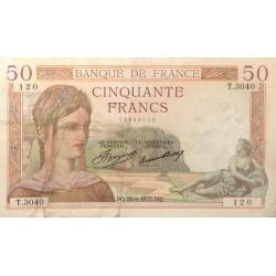 50 Francs Ceres 26/09/35 (50F045)