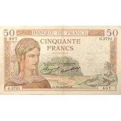 50 Francs Cérès 19/12/35 (50F046)