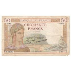 50 Francs Cérès 11/02/37 (50F048)