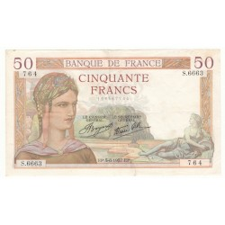 50 Francs Cérès 05/08/37 (50F049)