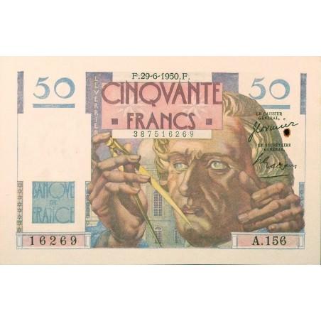 50 Francs Le Verrier 29-06-1950 SUP+  Fayette 20.15