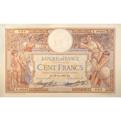 100 Francs Luc Olivier Merson 29-11-1934 SUP Fayette 24.13