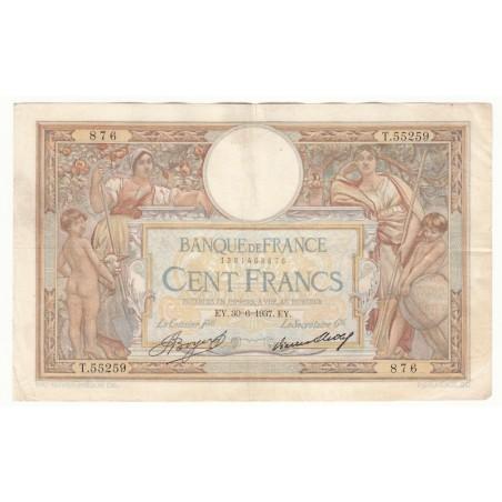 100 Francs Luc Olivier Merson 30-06-1937 TTB  Fayette 24.16