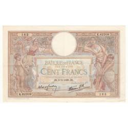 100 Francs Luc Olivier Merson 03-11-1938 TTB+ Fayette 25.34
