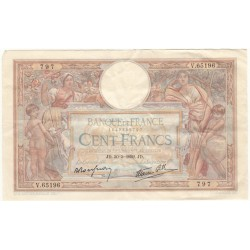 100 Francs Luc Olivier Merson 30-03-1939 TTB+ Fayette 25.45