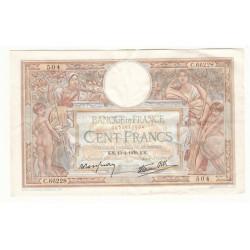 100 Francs Luc Olivier Merson 13-04-1939 TTB+ Fayette 25.46