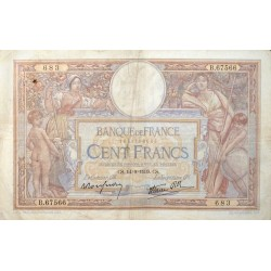 100 Francs Luc Olivier Merson 14-09-1939 TB Fayette 25.49