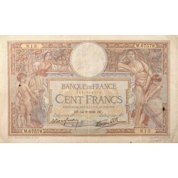 100 Francs Luc Olivier Merson 14-09-1939 TB+ Fayette 25.49