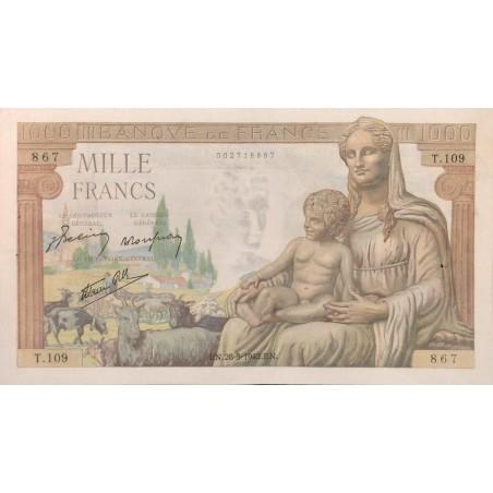 1000 Francs Déesse Déméter 28/05/42 (1000F038)