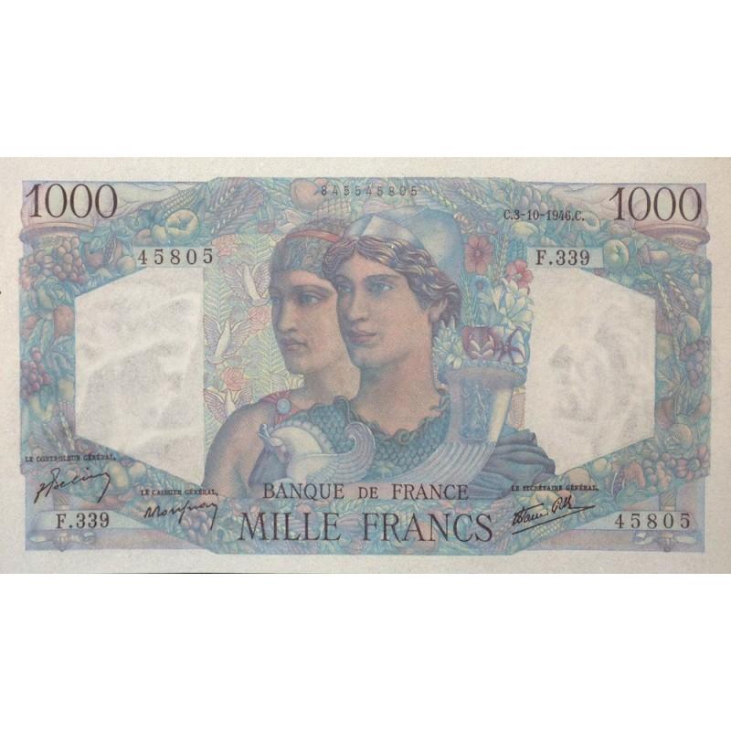 1000 Francs MINERVE ET HERCULE 03-10-46 Fayette 41.17
