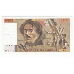 100 Francs Delacroix 1978  TTB+  Alph. A.7