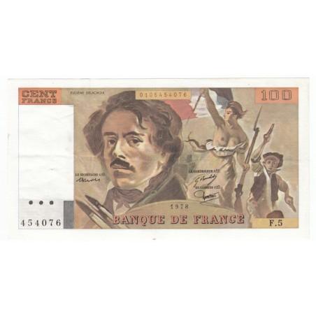 100 Francs Delacroix 1978 TTB+