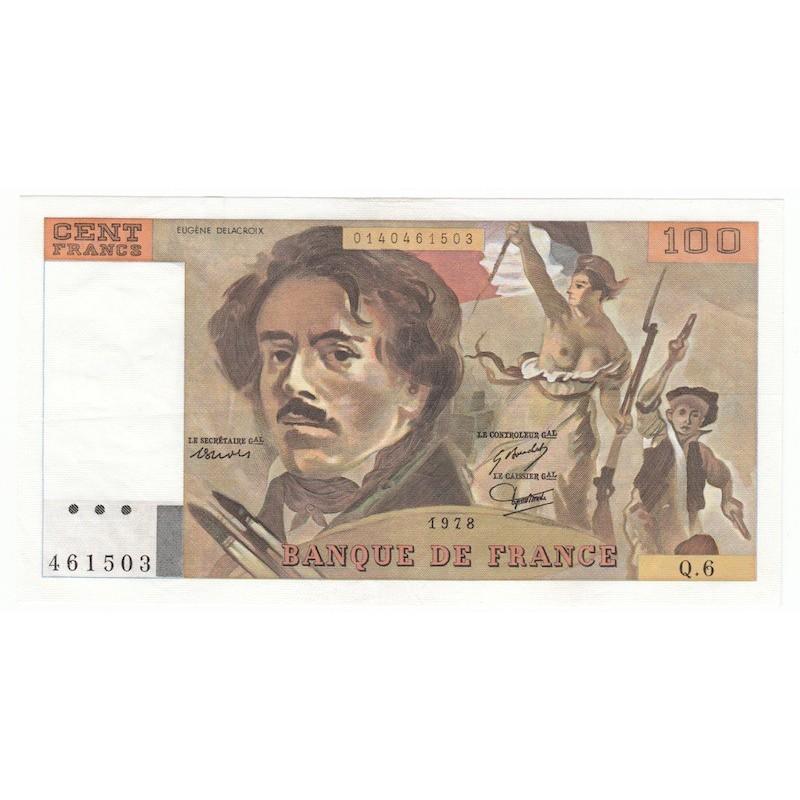 100 Francs Delacroix 1978 SUP