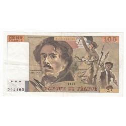 100 Francs Delacroix 1978 TTB
