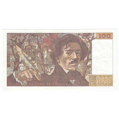 100 Francs Delacroix 1979 TTB  FILIGRANE MOYEN
