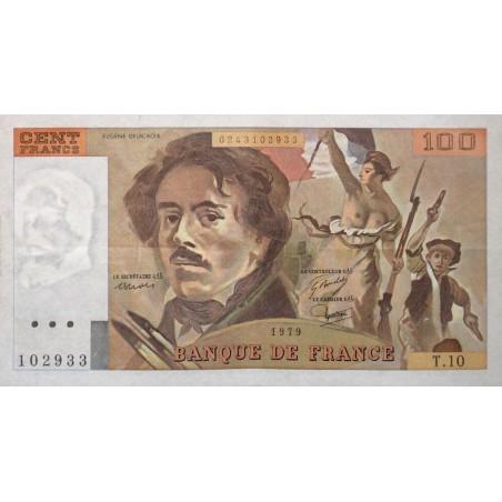 100 Francs Delacroix 1979 SUP  FILIGRANE MOYEN