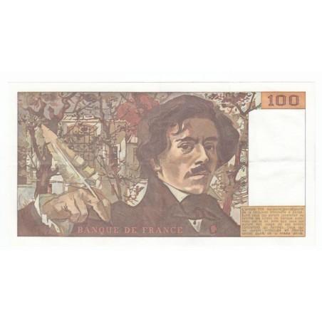 100 Francs Delacroix 1979 SUP+ Fayette 69.2b Moyen filigrane