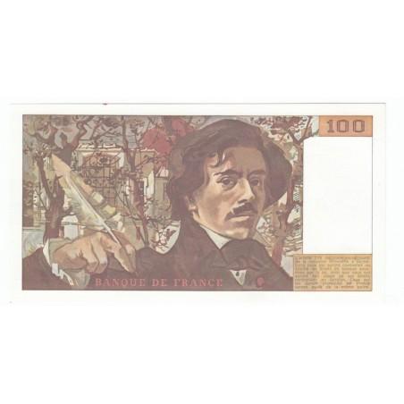 100 Francs Delacroix 1980 SPL Fayette 69.4a
